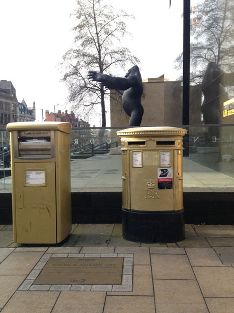 Golden-Postboxes