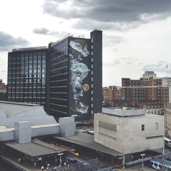 Nomad Clan Complete the Tallest Mural in the UK for 'A City Less Grey'!