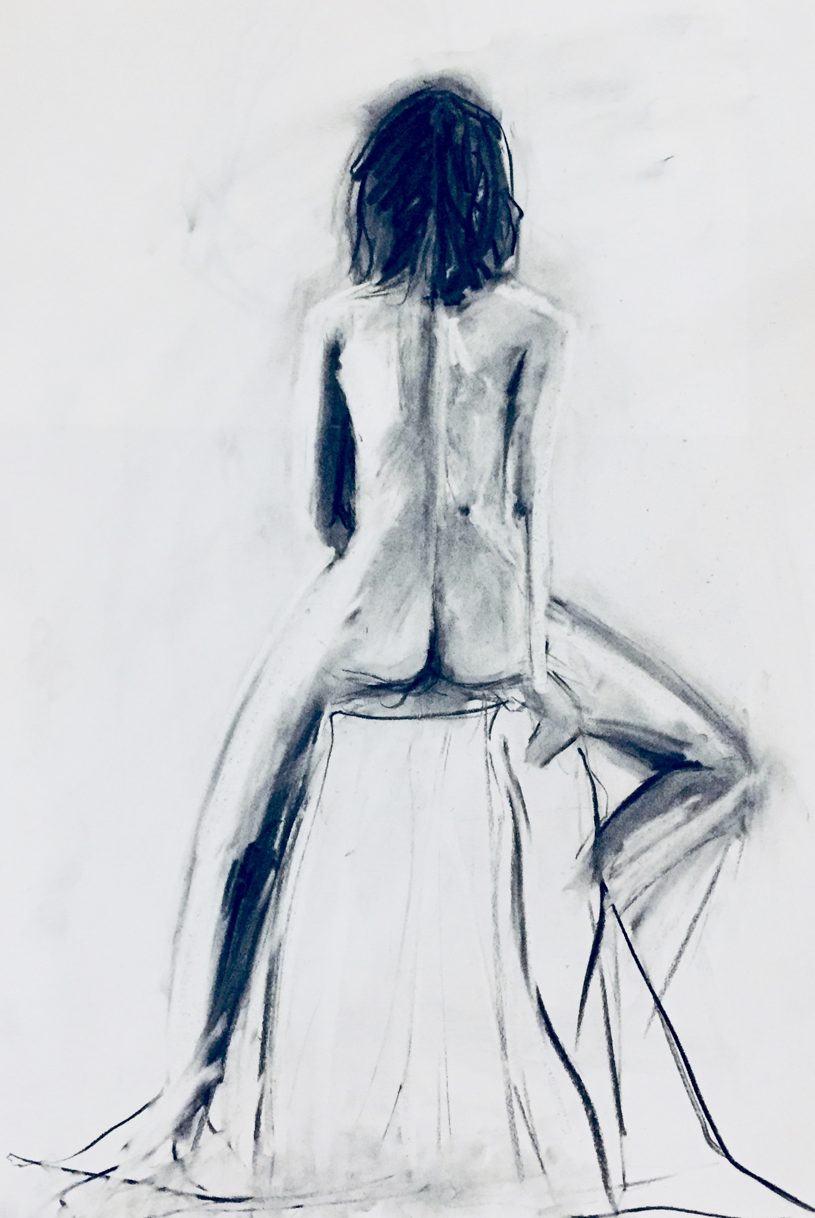 Life drawing artwork by Tessa Houghton
